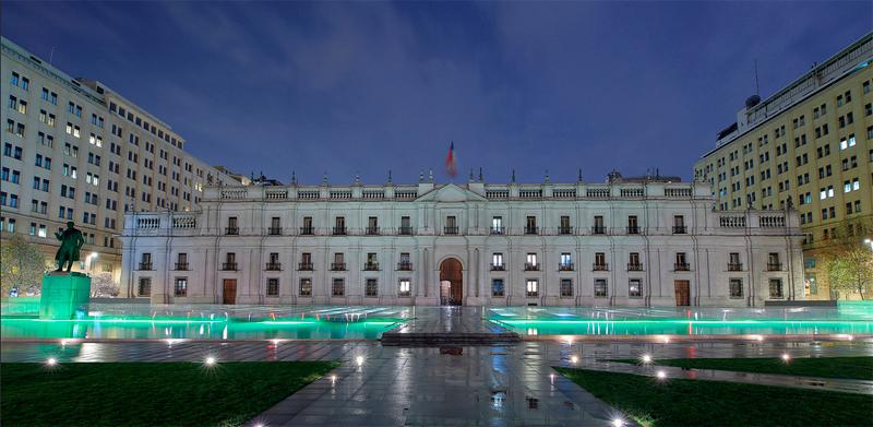 Palacio de La Moneda en Santiago